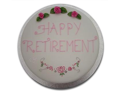 کیک گرد ساده - کیک بازنشستگی بابا | کیک آف