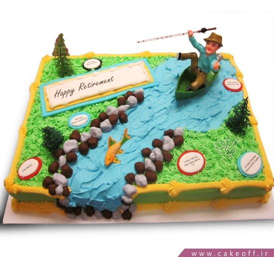 سفارش کیک به مناسبت بازنشستگی - کیک خامه ای تعطیلات | کیک آف