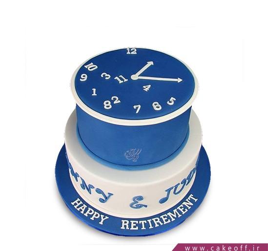 کیک ثانیه های آبی