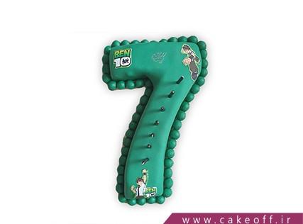 کیک تولد بچگانه - کیک عدد هفت بن تن | کیک آف