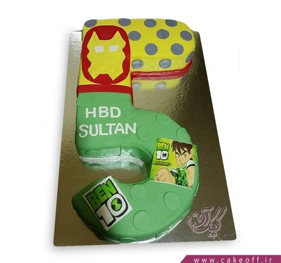 کیک تولد عدد پنج بن تن