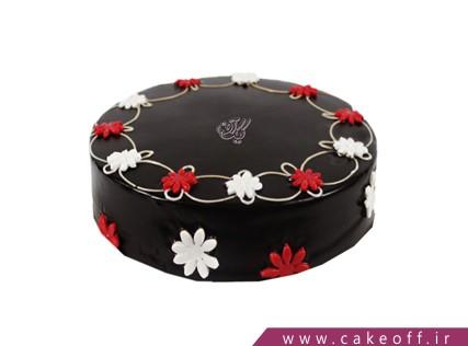 کیک شکلاتی - کیک ضیافت گل ها | کیک آف