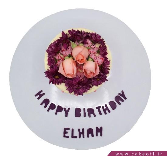 کیک تولد خاص - کیک گل چکه ای | کیک آف