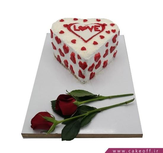 کیک عاشقانه پذیرای احساسم باش