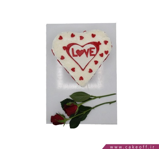 کیک عاشقانه - کیک پذیرای احساسم باش   کیک آف