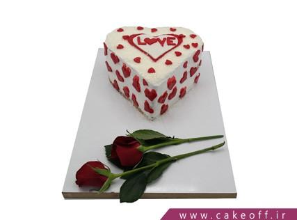 کیک عاشقانه - کیک پذیرای احساسم باش | کیک آف