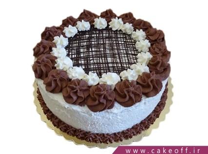 کیک تولد ساده - کیک تار و پود خامه شکلاتی | کیک آف