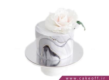 کیک تولد خاص - کیک رز سفید | کیک آف