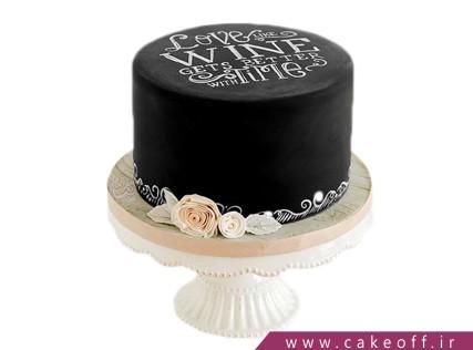 کیک تولد زیبا - کیک عاشقانه لالالند | کیک آف
