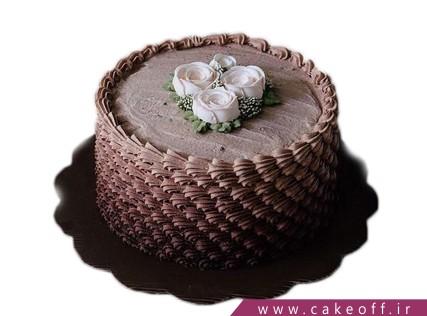انواع کیک تولد - کیک شکلاتی گل در بر | کیک آف
