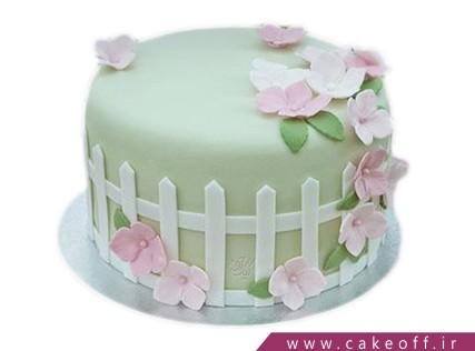 کیک تولد زیبا - کیک حصار گل | کیک آف