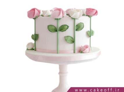 کیک تولد زیبا - کیک رز لند | کیک آف