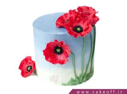 کیک تولد خاص - کیک شقایق گل همیشه عاشق | کیک آف