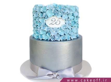 کیک تولد خاص - کیک گل های آبی | کیک آف