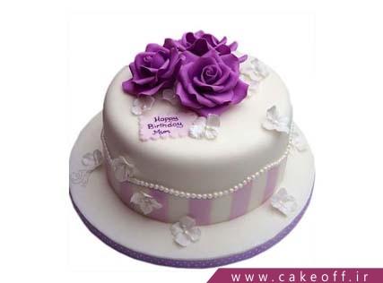انواع کیک تولد - کیک رز بنفش | کیک آف