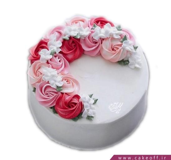 کیک تولد زیبا - کیک گل های خامه رنگی | کیک آف