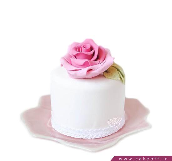 کیک تولد زیبا - کیک تک رز صورتی   کیک آف