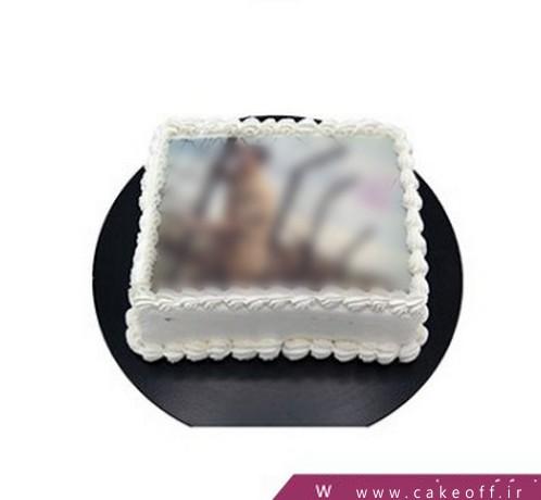 کیک تولد ساده - کیک تصویری افق | کیک آف