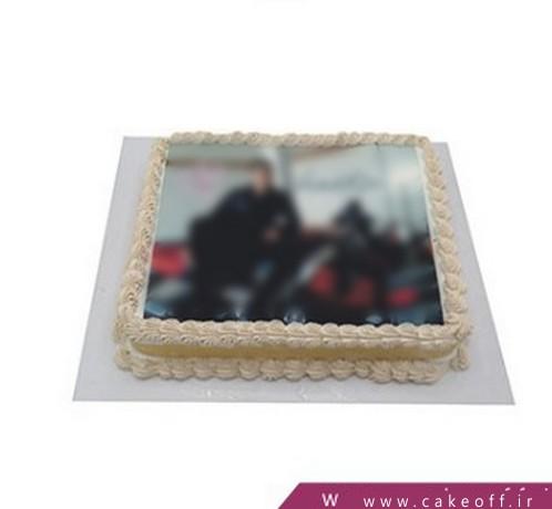 چاپ عکس روی کیک تولد - کیک ساده نسکافه باران | کیک آف