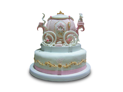 سفارش کیک تولد سیندرلا - کیک کدوی جادویی | کیک آف