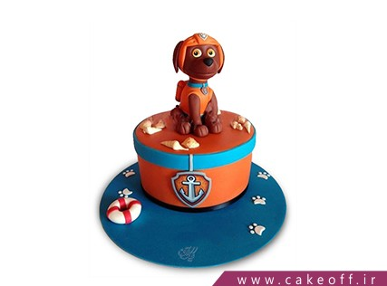 سفارش اینترنتی کیک - کیک تولد سگ ورزشکار | کیک آف