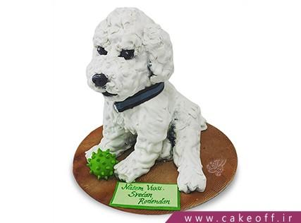 کیک تولد حیوانات - کیک سگ برفی | کیک آف