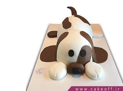 کیک تولد حیوانات - کیک سگ خال قهوه ای | کیک آف