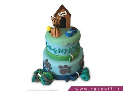 کیک تولد حیوانات - کیک سگ و خونه سگ | کیک آف