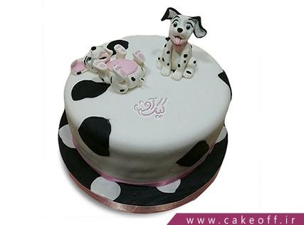 کیک تولد حیوانات - کیک تولد دو سگ شیطون | کیک آف
