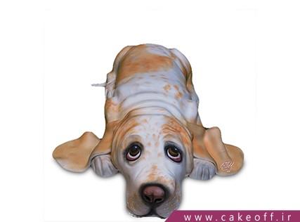 سفارش کیک تولد حیوانات - کیک تولد سگ خسته | کیک آف