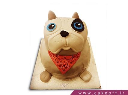 کیک تولد سگ چشم آبی | کیک آف