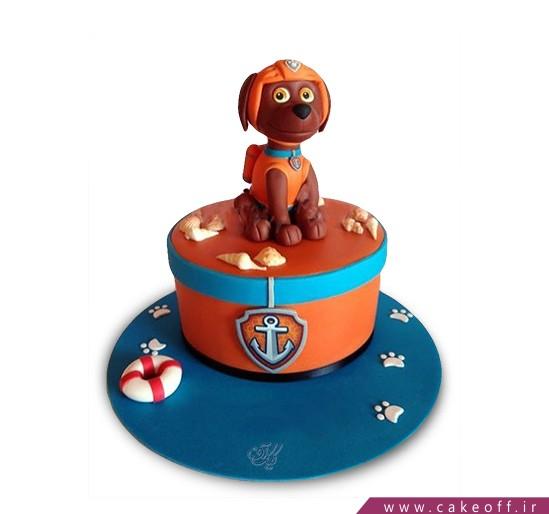 کیک تولد سگ ورزشکار