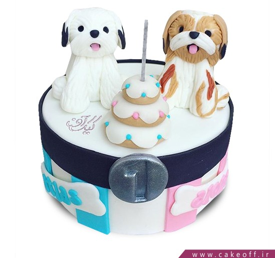 کیک دو سگ برفی