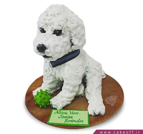کیک سگ برفی