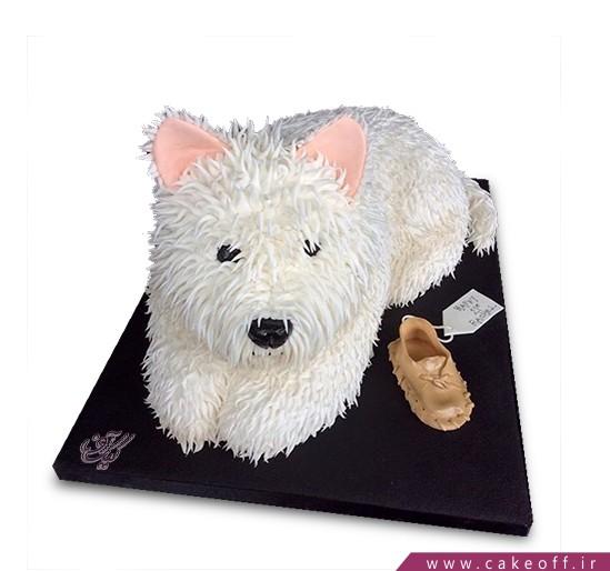 کیک تولد حیوانات - کیک سگ گوش صورتی | کیک آف