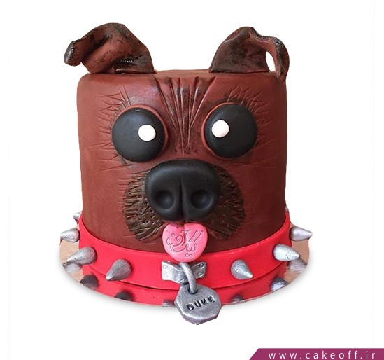 کیک تولد سگ قلاده دار