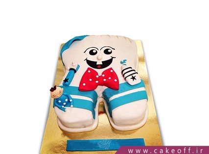 تزیین کیک دندونی