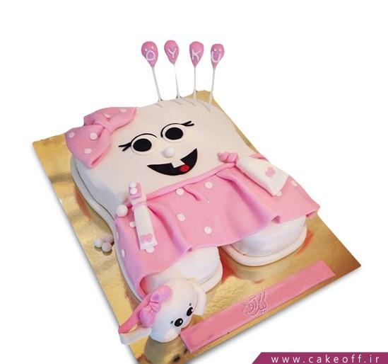 کیک جشن دندونی - کیک دندون پیراهن صورتی | کیک آف