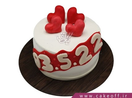 کیکهای تولد زیبا - کیک عاشقانه در قلب من بمان | کیک آف