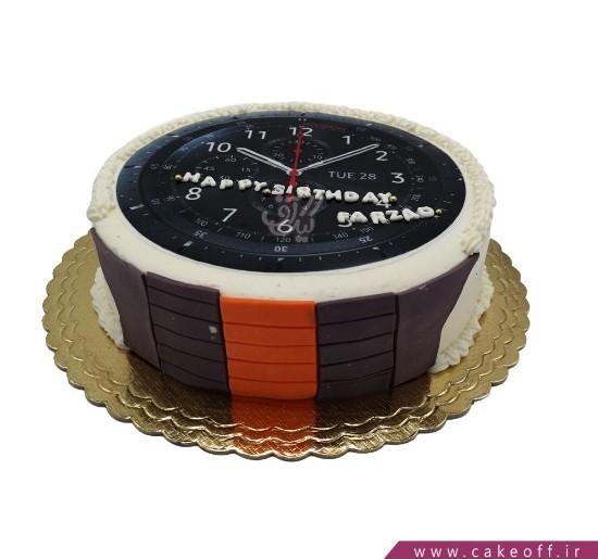 انواع کیک تولد - کیک ساعت اسپرت | کیک آف