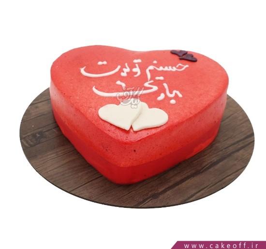 انواع کیک تولد - کیک قلب عاشقم برای تو   کیک آف