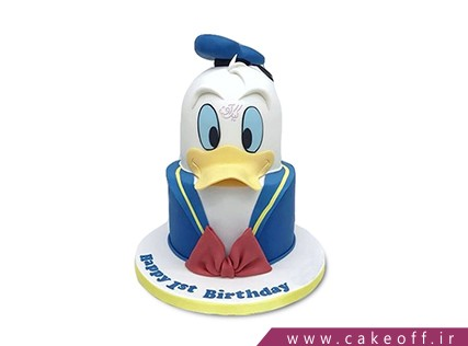 کیک کارتونی - کیک دونالد داک 2 | کیک آف