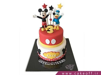 کیک تولد بچه گانه دونالد داک و میکی 2 | کیک آف