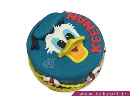 کیک کارتونی - کیک تولد بچه گانه دونالد داک 9 | کیک آف