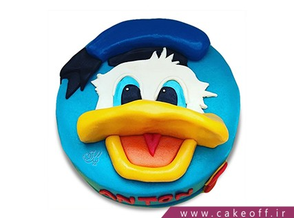 کیک کارتونی - کیک تولد بچه گانه دونالد داک 10 | کیک آف