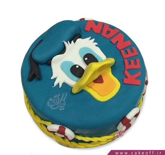 کیک کارتونی - کیک تولد بچه گانه دونالد داک ۹ | کیک آف