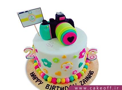کیک تولد دخترانه - کیک دوربین 7 | کیک آف