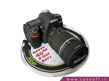 کیک تولد هنری - کیک دوربین 20 | کیک آف