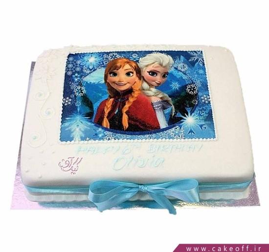 کیک السا و آنا در یک قاب