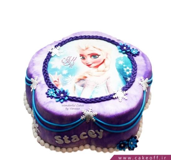 کیک دخترانه السای مو طلایی
